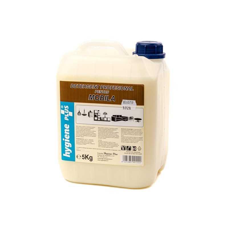 Detergent pentru curatat mobila 5l. Curata si degreseaza suprafete din pal, lemn, si lasa pelicula antistatica si parfum placut.